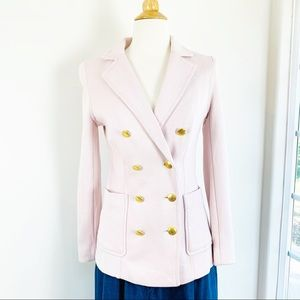 🌈H&M double breasted light pink blazer